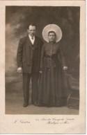 Photographie Ancienne /carte-photo  Couple Femme En Costume De BOULOGNE-sur-MER , GORLER  Photographe - Persone Anonimi