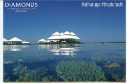 Magnificent Diamonds Thudufushi Beach And Water Villas, Belle Carte Postale Non Circulée - Maldives