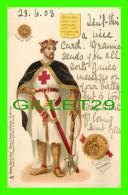 FAMILLES ROYALES - RICHARD I OF ENGLAND - RICHARD COEUR DE LION - COIN & GREAT SEAL RICHARD I  - TRAVEL IN 1903 - - Royal Families