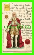 FAMILLES ROYALES - GEORGE II OF GREAT BRITAN - COIN & GREAT SEAL GEO II - TRAVEL IN 1903 - - Royal Families