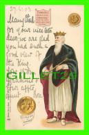 FAMILLES ROYALES - KING EDWARD I OF ENGLAND - COIN & GREAT SEALOF EDWARD I - TRAVEL IN 1903 - - Royal Families