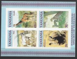 "TANSANIA Block 58 ""Wildtiere"" Seltene Abart UNGEZÄHNT Postfrisch - Tansania (1964-...)"