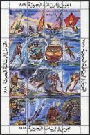 LIBYE 1984, SPORTS NAUTIQUES, SKI, PLONGEE, VOILE... 16 Valeurs En Feuillet, NEUFS** / MINT. R114 - Libya