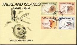Falklandinseln,    FDC   - Mi.Nr.   464 - 467   Gestempelt - Falklandinseln