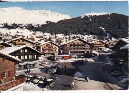 VERBIER (Suisse-Valais)  Le Centre - AUTO-VOITURE-BUS-Chalet-Flamme Philatélique - VOIR 2 SCANS - - VS Valais
