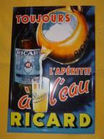 """Plaque Métal """"RICARD"""" - Advertising (Porcelain) Signs"""