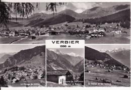 VERBIER (Suisse-Valais)  4 Vues Station 1500 M- VOIR 2 SCANS - - VS Valais