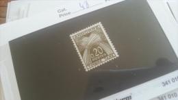 LOT 267715 TIMBRE DE ANDORRE NEUF** N�48 VALEUR 18,5 EUROS