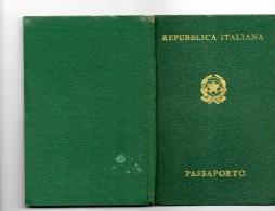 Passaporto, Pasport, Pasaporte Italiano Año 1972 - Documenti Storici
