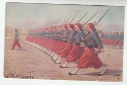 FRANCE TUCKS Postcard CORPS De ZOUAVES Les Armes Francais Series 981 No 5 CARTE POSTALE TUCK Military Army Forces - Regiments