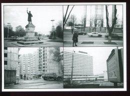 CPM Neuve Moldavie Statue Stéphan Cel Mare Maison De La Présidence Immeuble En Construction - Moldavie