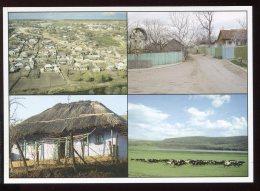 CPM Neuve Moldavie Entre Les Méandres Du Raut Village De Trebujen Village De Cojusna Chaumière Près De Vadul Lui Voda - Moldavie