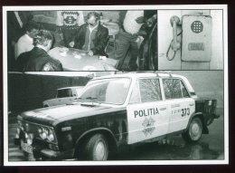 CPM Neuve Animée Moldavie Joueurs De Dominos Téléphone D´hier Voiture De Police - Moldavie