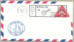 APOLLO 14 -SET OF 4 AIR MAIL  COVERS -with Mailer's  Postmark Permit To KSC Philatelic Society - Briefe U. Dokumente