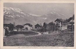 74 SAINT GERVAIS Coin Du VILLAGE L´ Eté  Chalets EGLISE Jolie Vue Sur La VIGNETTE Et Chaine Des FIZ - Saint-Gervais-les-Bains