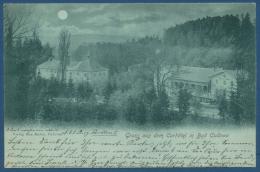 Bad Cudowa Gruss Aus Dem Kurhotel Mondscheinkarte, Gelaufen 1899 (AK203) - Schlesien
