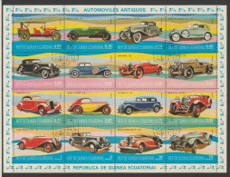 Equatorial Guinea / Guinee Equatorial 1977 Mi 1095 /1110 -CTO - Historic Automobile / Historische Automobile / Oldtimers - Automobili