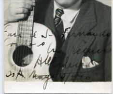 "AUTOGRAFO DÉDICACÉ AUTOGRAPHED ""ABEL FLEURY"" FAMOUS CELEBRE GUITARRISTA-GUITARIST CIRCA 1946 ORIGINAL SIGNATURE GECKO - Autogramme & Autographen"