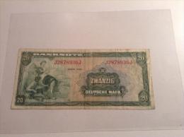 Bundesrepublik Deutschland BRD Bank Deutscher Länder1948, 20 Deutsche Mark Banknote, Ro. 240 FINE - [ 7] 1949-… : FRG - Fed. Rep. Of Germany