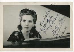 "AUTOGRAFO DÉDICACÉ AUTOGRAPHED ""BATTY BLAIN"" ACTRESS-ACTRICE-ATTRICI CIRCA 1946 SIGNATURE EXCLUSIVE NON CIRCULEE GECKO - Autographs"