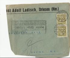 =DR 1923 ONLY FRONT SIDE  DREISEN - Storia Postale