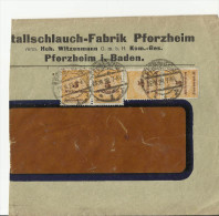 =DR 1923 ONLY FRONT SIDE PFORZHEIM - Storia Postale