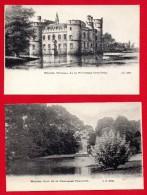 Meise ( Meysse). Château Et Parc De La Princesse Charlotte. Lot De 2 Cartes . Ca 1900 - Meise