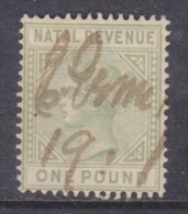 South Africa,Natal, Revenue Stamp, Queen Victoria, 1885, £1, Used - Afrique Du Sud (...-1961)