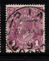 "Australia    1918-23   ""1d   Deep Purple""    VFU   (0)"