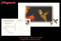 ASIA. CHINA. ENTEROS POSTALES. TARJETA ENTERO POSTAL 1999. FAUNA. COLIBRÍ - Postcards