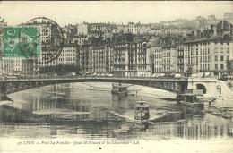 Lyon Pont La Feuillee Quai Saint Vincent Et Les Chartreux - Otros