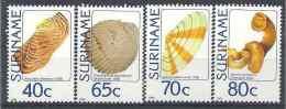 1984 SURINAM 940-43** Coquillages