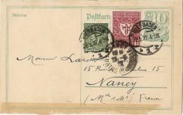 LBL33/B - ALLEMAGNE EP CP WIESBADEN / NANCY 22/5/1922 - Deutschland