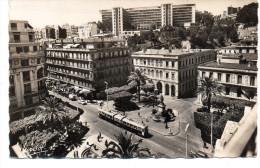 - ALGERIE - CPSM écrite ALGER - Place D´Isly Et Gouvernement Général - Editions GALLICE 330 - - Algerien