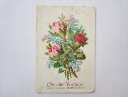 Chromo Chromos Chocolat Poulain Gaufré Fleurs - Poulain
