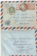 Aerogramme De Calcutta(West Bengal) Vers Saint Servais Belgie -   1977