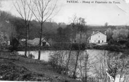 CPA PAYZAC. étang Et Papeterie De Vaux. - Sin Clasificación