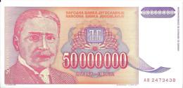 YOUGOSLAVIE - 50 000 000 Dinara 1993 UNC - Pick 133 - Yugoslavia