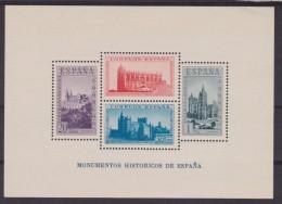 1938 SPAGNA MONUMENTI STORICI FOGLIETTO NUOVO ** MNH BF 5 - 1931-Oggi: 2. Rep. - ... Juan Carlos I