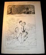 LA CHRONIQUE PARISIENNE. 1885. 245. AU BAL DE L' HOTEL DE VILLE, par   MOLOCH. * R. d' A. * SPOLSKI *