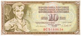 Yugoslavia 10 Dinara 1981 UNC - Yougoslavie