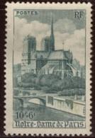 France - Neuf - Charnière YT N°776  Cathédrale Notre Dame De Paris 10f + 6 F Vert - France