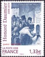 Autoadhésif(s) De France N°  224 ** Ou Modèle 4305  Art : Oeuvre De Henri DAUMIER  > Un Guichet De Théâtre - France