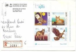 LBL33/B - PORTUGAL LETTRE RECOMMANDÉE THÈME ANIMAUX - 1910-... République