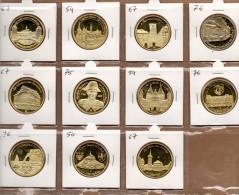 Lot N°3 De 11 Médailles De La Collection : Prune - Touristiques
