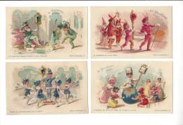 Au Printemps, Paris, Lot 5 Cartes Pierres Précieuses ( Améthyste, Emeraude, Rubis, Diamant, Saphir ), Ill. L. G. - Publicidad