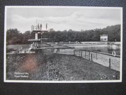AK RIESA Stadtbad ca.1940 feldpost ///// D*17226