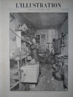 REVUE ILLUSTRATION 1893 N�2648 ANARCHY ANARCHIE ANARCHISTE LABORATOIRE LABORATORY CONTREBANDIER DOUANIER DOUANE
