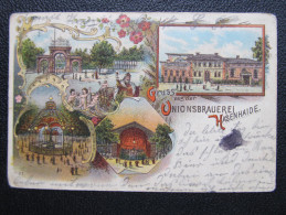 AK BERLIN RIXDORF HASENHAIDE Litho Brauerei Union 1900 ///// D*17245 - Rixdorf