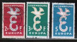 CEPT 1958 LU MI 590-92 USED LUXEMBOURG - 1958